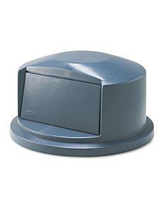 Brute Dome Top Swing Door Lid For 32 Gal Waste Containers, Plastic, Gray