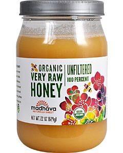 Madhava Honey Organic Raw Honey - Case Of 6 - 22 Oz.