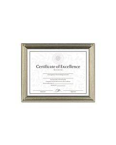 Antique Colored Document Frame W/certificate, Plastic, 8 1/2 X 11, Silver