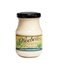 Woeber's Mustard Smoky Horseradish Sauce - Case Of 6 - 4.25 Oz.