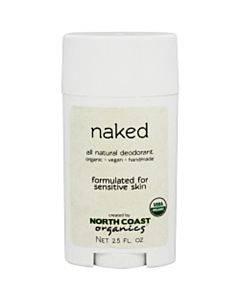 North Coast Organics Deodorant - Naked Sensitive Skin - 1 Each - 2.5 Oz.