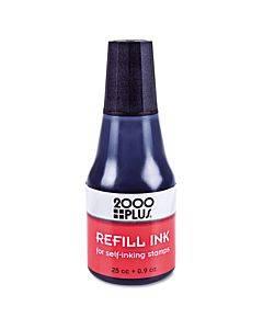 Self-inking Refill Ink, Black, 0.9 Oz. Bottle