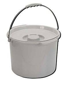 Drive Medical Commode Pail With Lid 12 Quart  Gray Part No.11108