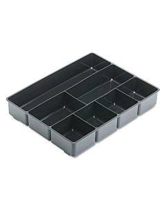 Extra Deep Desk Drawer Director Tray, Plastic, Black