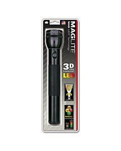 Led Flashlight, 3 D Batteries (sold Separately), Black