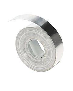 "Rhino Metal Label Non-adhesive Tape, 1/2"" X 16 Ft., Aluminum"