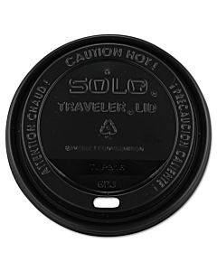 Traveler Cappuccino Style Dome Lid, 10-24oz Cups, Black, 100/sleeve, 10 Sleeves/carton