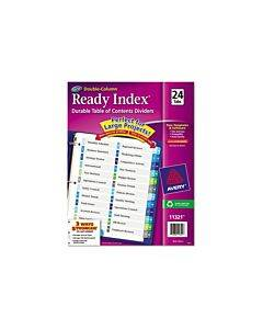 Customizable Toc Ready Index Double Column Multicolor Dividers, 24-tab, Letter