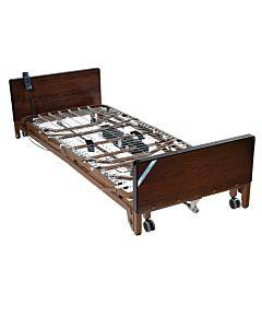 Delta Ultra Light Full Electric Low Hospital Bed With Half Rails And Therapeutic Support Mattress