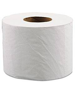 """Morsoft Controlled Bath Tissue, Septic Safe, 2-ply, White, 3.9"""" X 4"""", 600 Sheets/roll, 48 Rolls/carton"""
