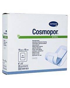 Adhesive Dressing Cosmoporâ® 6 X 6 Inch Nonwoven Square White Sterile(200/ca)