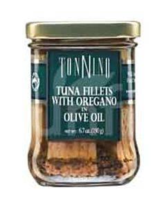 Tonnino Tuna Fillets - Oregano Olive Oil - Case Of 6 - 6.7 Oz.