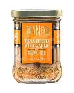 Tonnino Tuna Fillets - Garlic Olive Oil - Case Of 6 - 6.7 Oz.