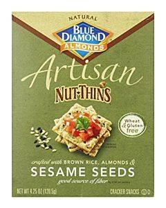 Blue Diamond - Artesion Nut Thins - Sesame Seed - Case Of 12 - 4.25 Oz.