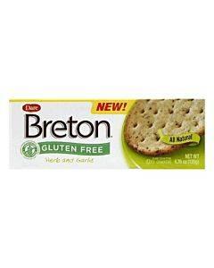 Breton/dare - Crackers - Herb And Garlic - Case Of 6 - 4.76 Oz.
