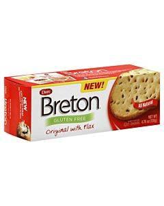 Breton/dare - Crackers - Original With Flax - Case Of 6 - 4.76 Oz.