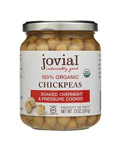 Jovial - Organic Chickpeas - Case Of 6 - 13 Oz.