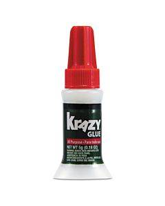 All Purpose Brush-on Krazy Glue, 0.17 Oz, Dries Clear