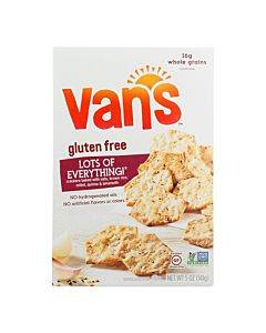 Van's Natural Foods Gluten Free Crackers - Lots Of Everything - Case Of 6 - 5 Oz.