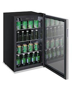 3.4 Cu. Ft. Beverage Cooler, Stainless Steel/black