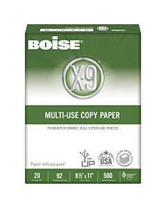 X-9 Multi-use Copy Paper, 92 Bright, 20lb, 8.5 X 11, White, 500 Sheets/ream, 5 Reams/carton