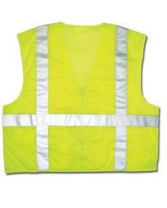 Luminator Safety Vest, Lime Green W/stripe, Medium