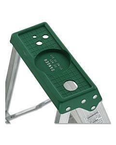Aluminum Step Ladder, 6 Ft Working Height, 225 Lbs Capacity, 5 Step, Aluminum/green