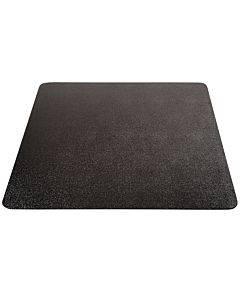 Economat Occasional Use Chair Mat For Low Pile Carpet, 46 X 60, Rectangular, Black