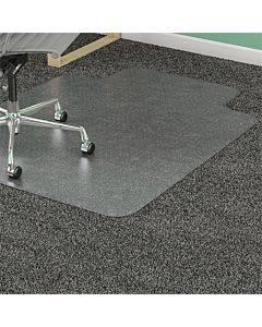 Duramat Moderate Use Chair Mat, Low Pile Carpet, Flat, 36 X 48, Lipped, Clear