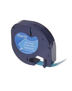 """Letratag Plastic Label Tape Cassette, 1/2"""" X 13ft, Clear"""