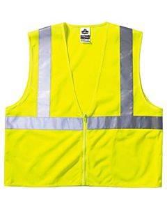 Glowear 8210z Class 2 Economy Vest, Polyester Mesh, Large/x-large, Lime