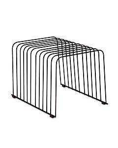 """Wire Desktop Organizer, 11 Sections, Letter To Legal Size Files, 9"""" X 11.38"""" X 8"""", Black"""
