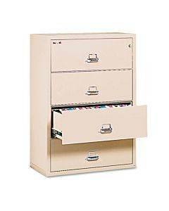 Four-drawer Lateral File, 31 1/8 X 22 1/8, Ul Listed 350, Ltr/legal, Parchment