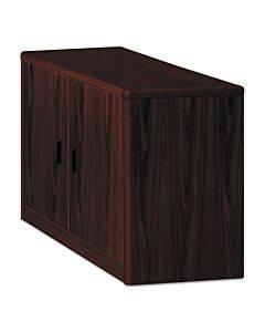 10700 Series Locking Storage Cabinet, 36w X 20d X 29 1/2h, Mahogany