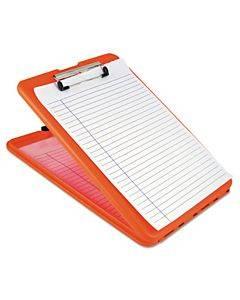 "Slimmate Storage Clipboard, 1/2"" Clip Capacity, 8 1/2 X 11 Sheets, Hi-vis Orange"