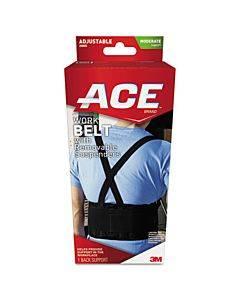 Work Belt With Removable Suspenders, One-size Adjustable, Black
