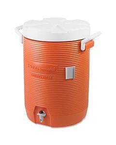 Insulated Water Cooler, 5 Gal, Orange/white
