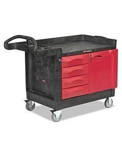 Trademaster Cart, 750-lb Capacity, One-shelf, 26.25w X 49d X 38h, Black