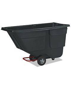 Rotomolded Tilt Truck, Rectangular, Plastic, 600 Lb Capacity, Black