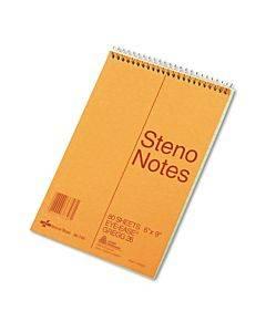Standard Spiral Steno Book, Gregg Rule, 6 X 9, Eye-ease Green, 80 Sheets