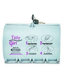 Plastic Feminine Hygiene Disposal Bag Dispenser, Gray