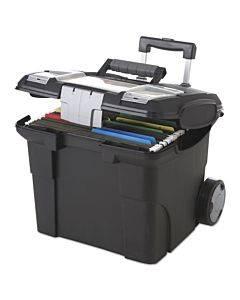 Premium File Cart, 15w X 16.38d X 14.25 To 30h, Black