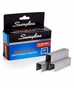 "Light Touch Heavy-duty Staples, 0.63"" Leg, 0.5"" Crown, Steel, 2,500/box"