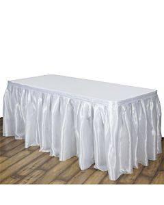 """Table Set Linen-like Table Skirting, 29"""" X 14ft, White"""