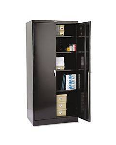 """78"""" High Deluxe Cabinet, 36w X 24d X 78h, Black"""