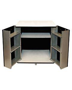 Refreshment Stand, Two-shelf, 29 1/2w X 21d X 33h, Black/white