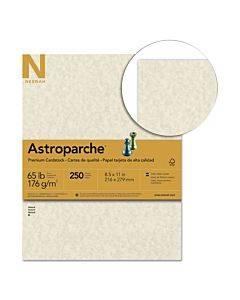 Color Cardstock, 65 Lb, 8.5 X 11, Natural Parchment, 250/pack