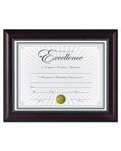Prestige Document Frame, Rosewood/black, Gold Accents, Certificate, 8 1/2 X 11