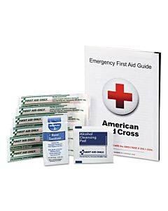 First Aid Guide W/supplies, 9 Pieces