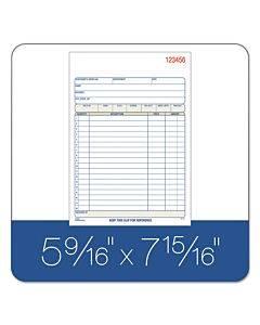 2-part Sales Book, 7 15/16 X 5 9/16, Carbonless, 50 Sets/book